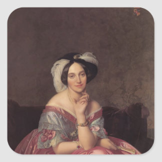 Jean Ingres- Baronesss Betty de Rothschild Colcomanias Cuadradas Personalizadas