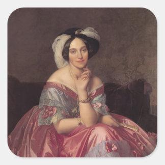 Jean Ingres- Baronesss Betty de Rothschild Square Sticker