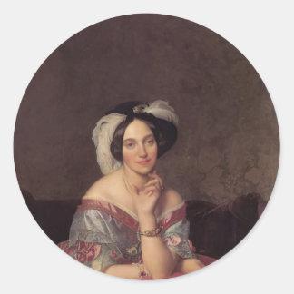 Jean Ingres- Baronesss Betty de Rothschild Classic Round Sticker