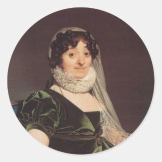 Jean Ingres- Comtes de Tournon Pegatina Redonda