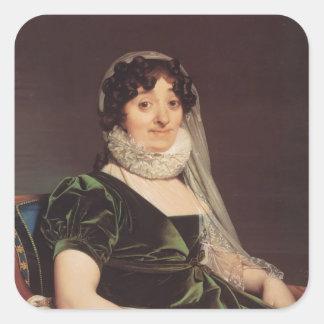 Jean Ingres- Comtes de Tournon Pegatina Cuadrada
