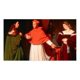 Jean Ingres- el desposorio de Raphael Plantillas De Tarjetas De Visita