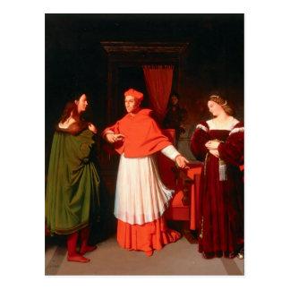 Jean Ingres- el desposorio de Raphael Tarjeta Postal