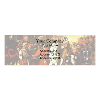 Jean Ingres- Entrance of Dauphin Double-Sided Mini Business Cards (Pack Of 20)