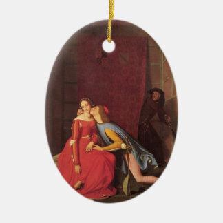 Jean Ingres- Francesca da Rimini & Paolo Malatesta Christmas Ornament