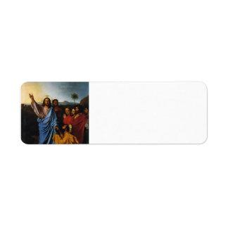 Jean Ingres- Jesus Returning the Keys to St. Peter Label