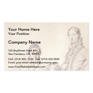 Jean Ingres- Mr. and Mrs. Woodhead Business Card Templates