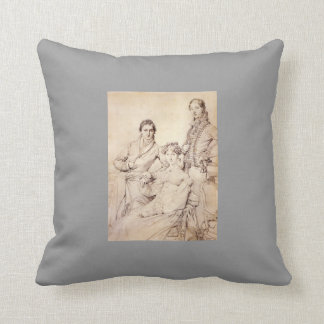 Jean Ingres- Mr. and Mrs. Woodhead Throw Pillow