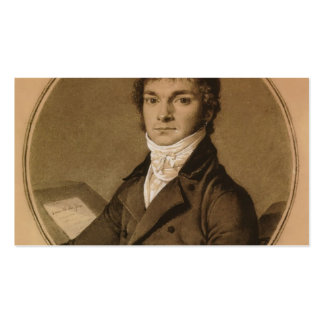 Jean Ingres: Pierre Guillaume Cazeaux, half-length Business Card Templates