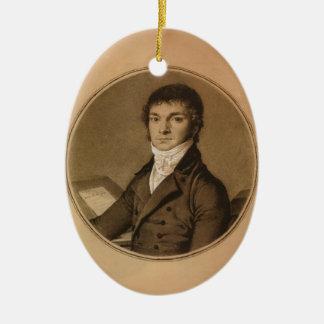 Jean Ingres: Pierre Guillaume Cazeaux, half-length Christmas Tree Ornaments