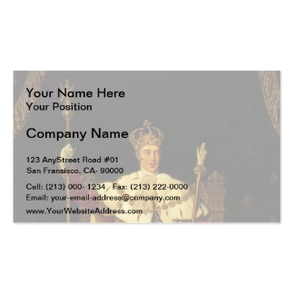 Jean Ingres- Portrait of Charles X Business Cards