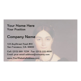 Jean Ingres- Portrait of Madame Antonia Business Card Template