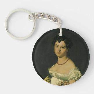 Jean Ingres- Portrait of Madame Panckoucke Single-Sided Round Acrylic Keychain