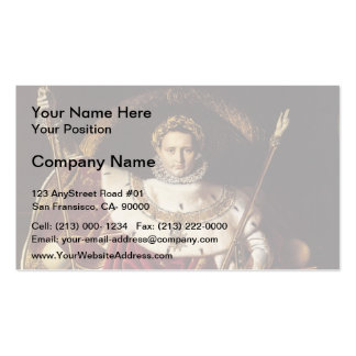 Jean Ingres-Portrait of Napoléon on ImperialThrone Business Cards