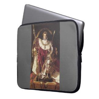 Jean Ingres-Portrait of Napoléon on ImperialThrone Laptop Sleeve