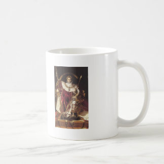 Jean Ingres-Portrait of Napoléon on ImperialThrone Coffee Mugs