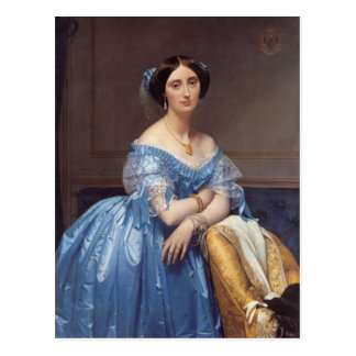 Jean Ingres- Portrait of the Princesse de Broglie Postcard