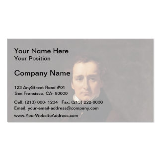 Jean Ingres- Portrait of the Sculptor Lorenzo Business Card