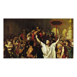 Jean Ingres- The Martyrdom of St. Symphorian Business Card Templates