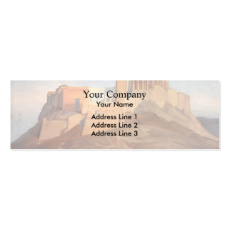 Jean Ingres- View of the Acropolis of Athens Business Card Templates
