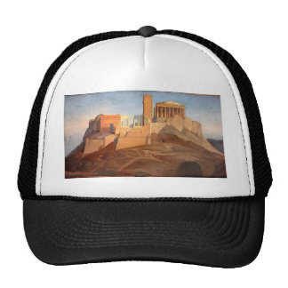 Jean Ingres- View of the Acropolis of Athens Trucker Hat