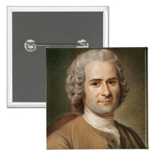 Jean-Jacques Rousseau  after 1753 2 Inch Square Button