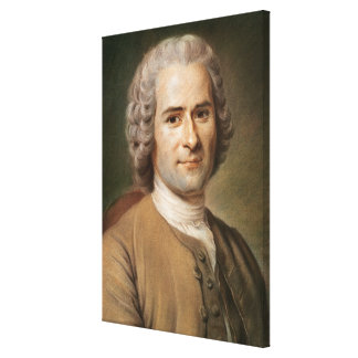 Jean-Jacques Rousseau  after 1753 Canvas Print