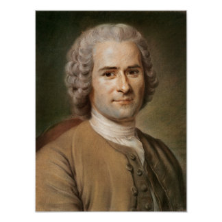 Jean-Jacques Rousseau  after 1753 Poster