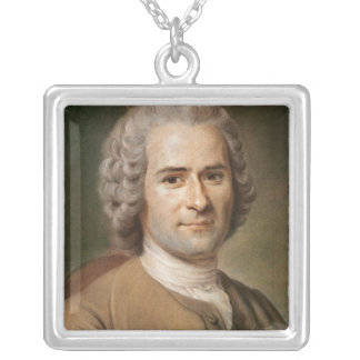 Jean-Jacques Rousseau  after 1753 Silver Plated Necklace