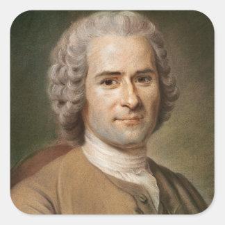 Jean-Jacques Rousseau  after 1753 Square Sticker