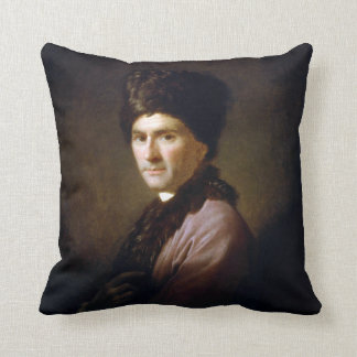 Jean-Jacques Rousseau by Allan Ramsay (1766) Throw Pillow