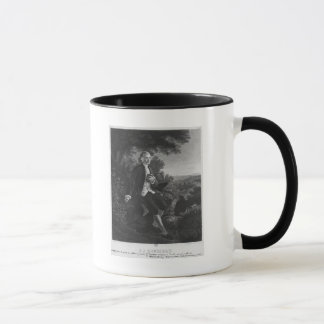Jean-Jacques Rousseau composing 'Emile' Mug