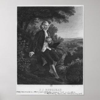 Jean-Jacques Rousseau composing 'Emile' Poster