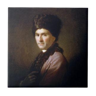 Jean-Jacques Rousseau de Allan Ramsay (1766) Azulejo
