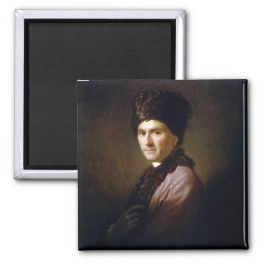 Jean-Jacques Rousseau de Allan Ramsay (1766) Imán De Nevera