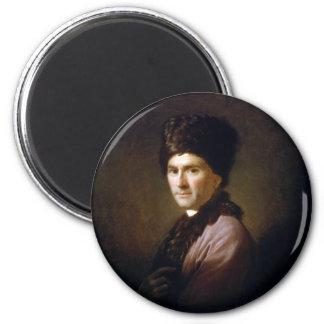 Jean-Jacques Rousseau de Allan Ramsay (1766) Imán Redondo 5 Cm