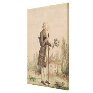 Jean-Jacques Rousseau  Gathering Herbs Canvas Print