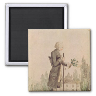 Jean-Jacques Rousseau  Gathering Herbs Magnet