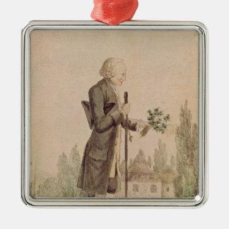 Jean-Jacques Rousseau  Gathering Herbs Metal Ornament