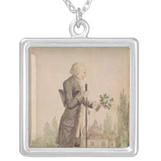 Jean-Jacques Rousseau  Gathering Herbs Silver Plated Necklace