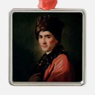 Jean Jacques Rousseau Metal Ornament