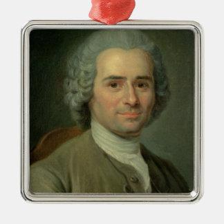 Jean-Jacques Rousseau Metal Ornament