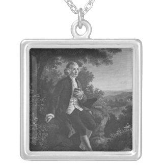 Jean-Jacques Rousseau que compone 'Emile Colgante Cuadrado