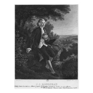 Jean-Jacques Rousseau que compone 'Emile Postal