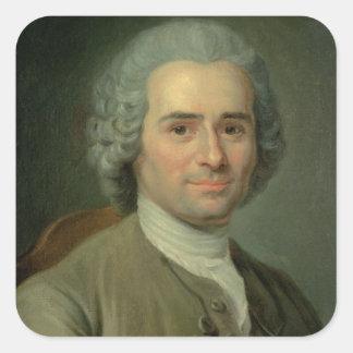 Jean-Jacques Rousseau Square Sticker