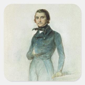Jean José Louis Blanc 1835 Pegatina Cuadrada