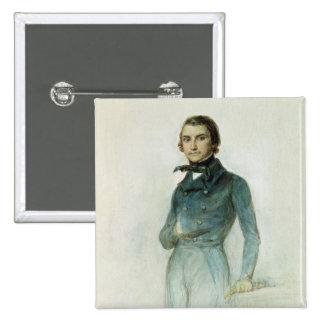Jean Joseph Louis Blanc  1835 2 Inch Square Button