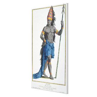 Jean, King of the Congo, engraved by Pierre Duflos Canvas Print