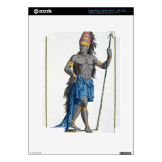 Jean, King of the Congo, engraved by Pierre Duflos iPad 3 Decals