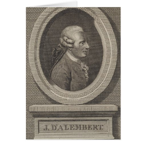 Jean le Rond d'Alembert Greeting Card